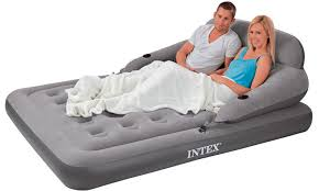 the intex queen air mattress boasts a 22 inch height and is fairly light weighing in at pounds its air chambers ensure stability
